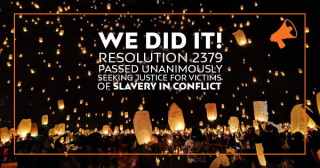 Win the UN acts to end slavery in conflict